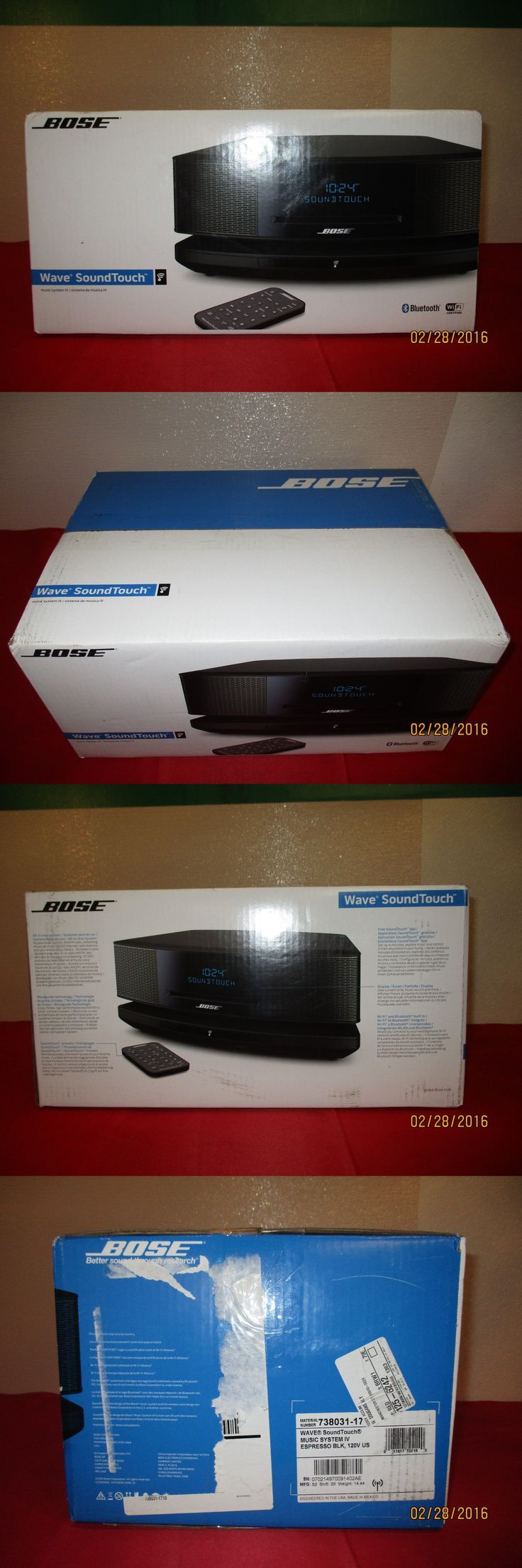 Compact and Shelf Stereos: Bose Wave Soundtouch Music System Iv- Espresso Black New In Box (S13) BUY IT NOW ONLY: $549.99