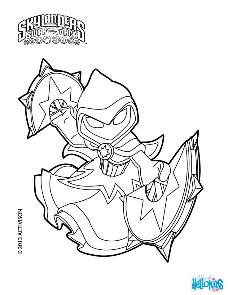 Star Strike coloring page from Skylanders Swap Force. More