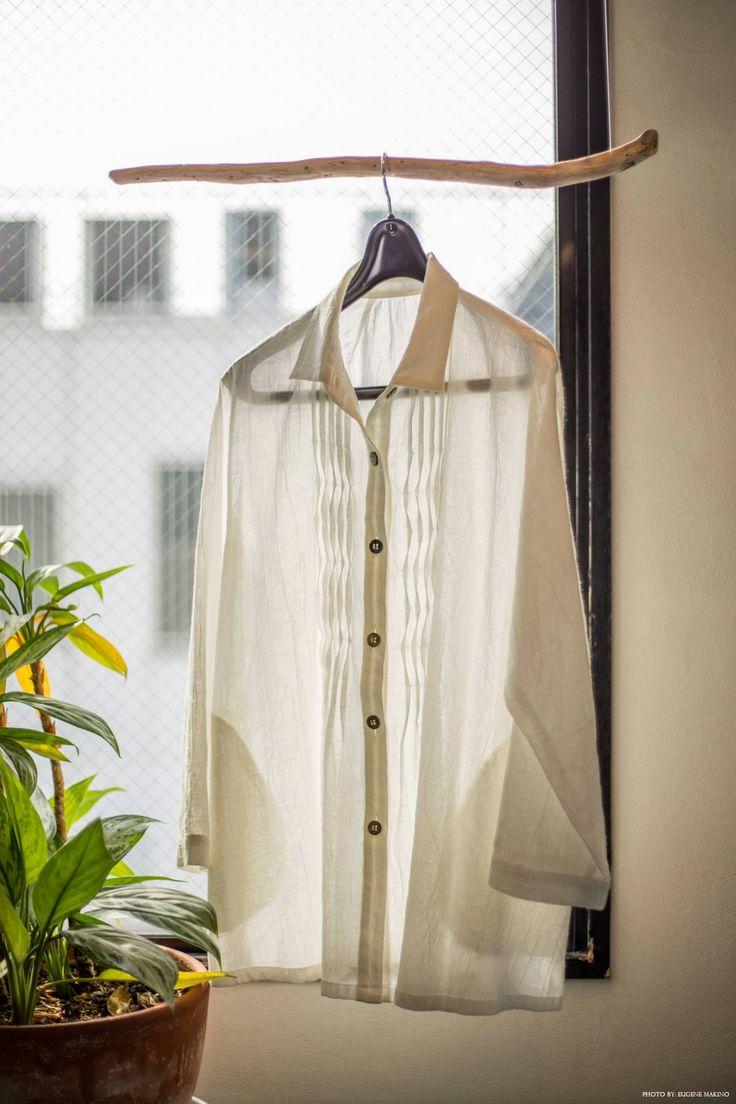 GRAPE Motomachi / Pleated Blouse #cotton #pleats #white #blouse #grapemotomachi