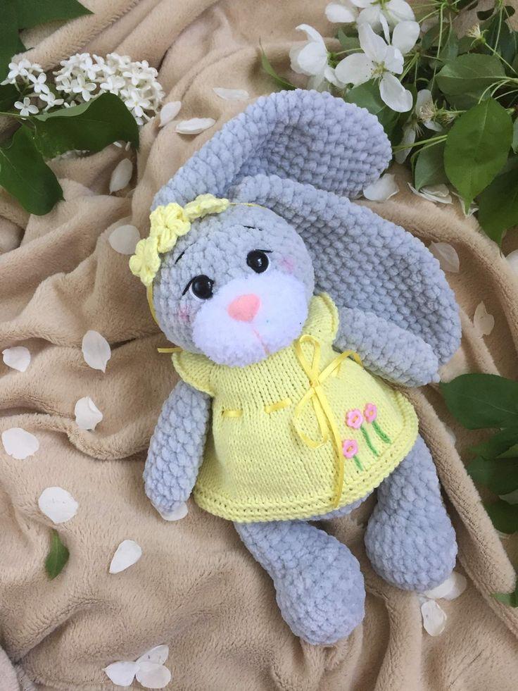 Bunny plush baby toy, baby safe stuffed bunny rabbit, Baby