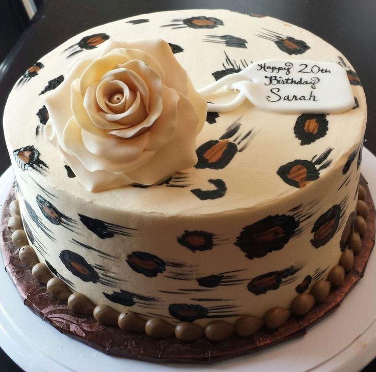 leopard print birthday cake — Birthday Cakes