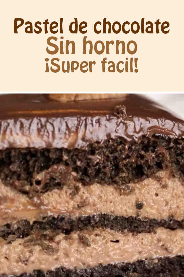 Pastel de chocolate  #chocolate #sinhorno #pastel