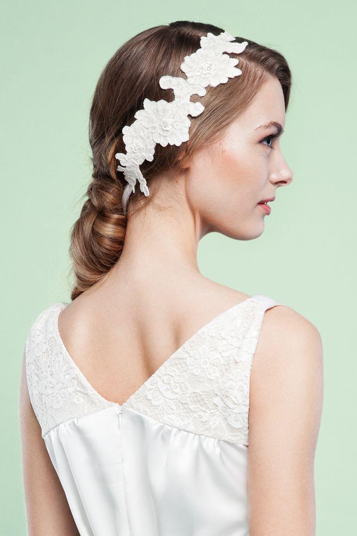 Br bridal headpieces montreal - Labude Brauthaarschmuck Spitzenapplikation Vintage Stil Headpiece Manon Headpiecesweddinghairstyles