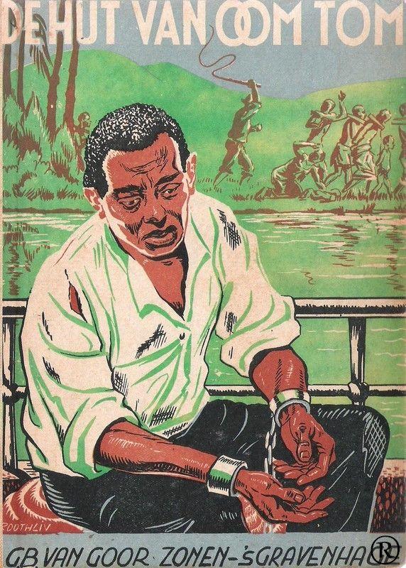 Uit de serie Oud Goud, deel 2: De hut van Oom Tom, geschreven door H. Beecher-Stowe en naverteld door P.de Zeeuw J.GZn. 7e druk. Omslag en platen van RootHCIV. Omstreek 1951 uitgegeven door G.B. v.Goor Zn - Den Haag - Djakarta