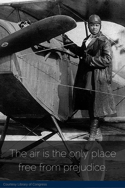 """Brave Bessie"" Coleman became the world's first female African American licensed pilot. #womenshistory"