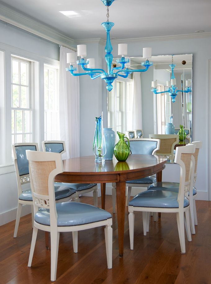 Beautiful Blue Dining Rooms: Beautiful Dining Room, But I Feel Like The Table Should Be