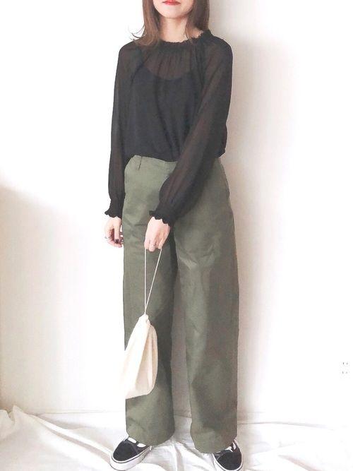 f1464e4d72d u*yu|nano・universeのシャツ/ブラウスを使ったコーディネート【2019】 | My WEAR | How to  wear、Coat、Fashion