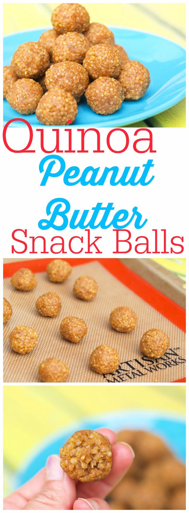 Last Minute Dessert Recipes and Ideas - Quinoa Peanut Butter Snack Balls - Healthy and Easy Ideas for No Bake Recipe Foods, Chocolate, Peanut Butter. Best Simple Ideas for Summer, For A Crowd and for Parties http://diyjoy.com/last-minute-dessert-ideas