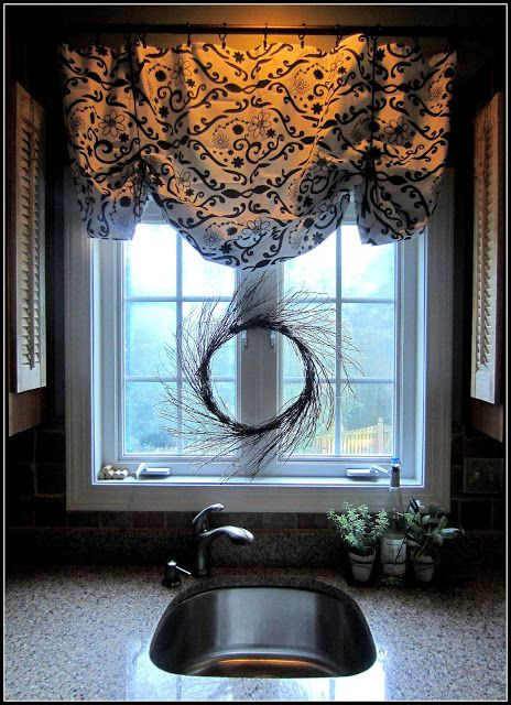 Rustic Kitchen Window Treatments