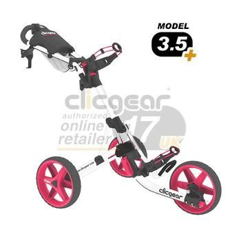 ClicGear Cart Golf Trolley 3.5 White/Pink (wide range of colours available)
