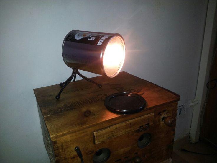 #Lamp #cafe #lampada #diy #can #lavazza