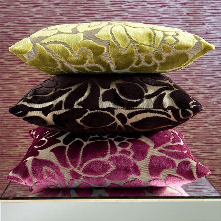 "Clarke & Clarke ""Academy Velvets"" fabric cushions"