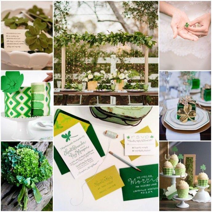 Des trèfles, du vert, de la bonne humeur, on fête la Saint Patrick en mariage !