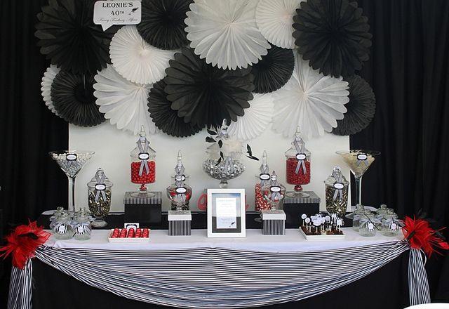 Elegant candy buffet