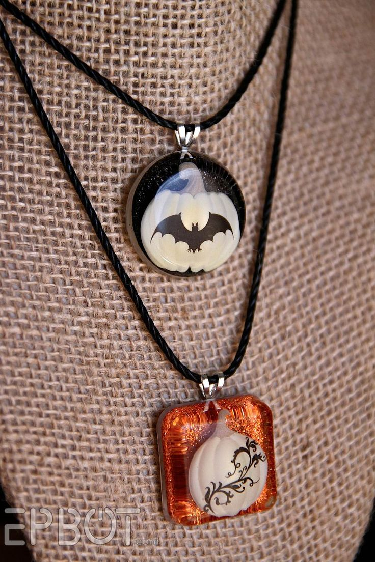 EPBOT: Glam Halloween Jewelry Made From Scrapbook Stickers!