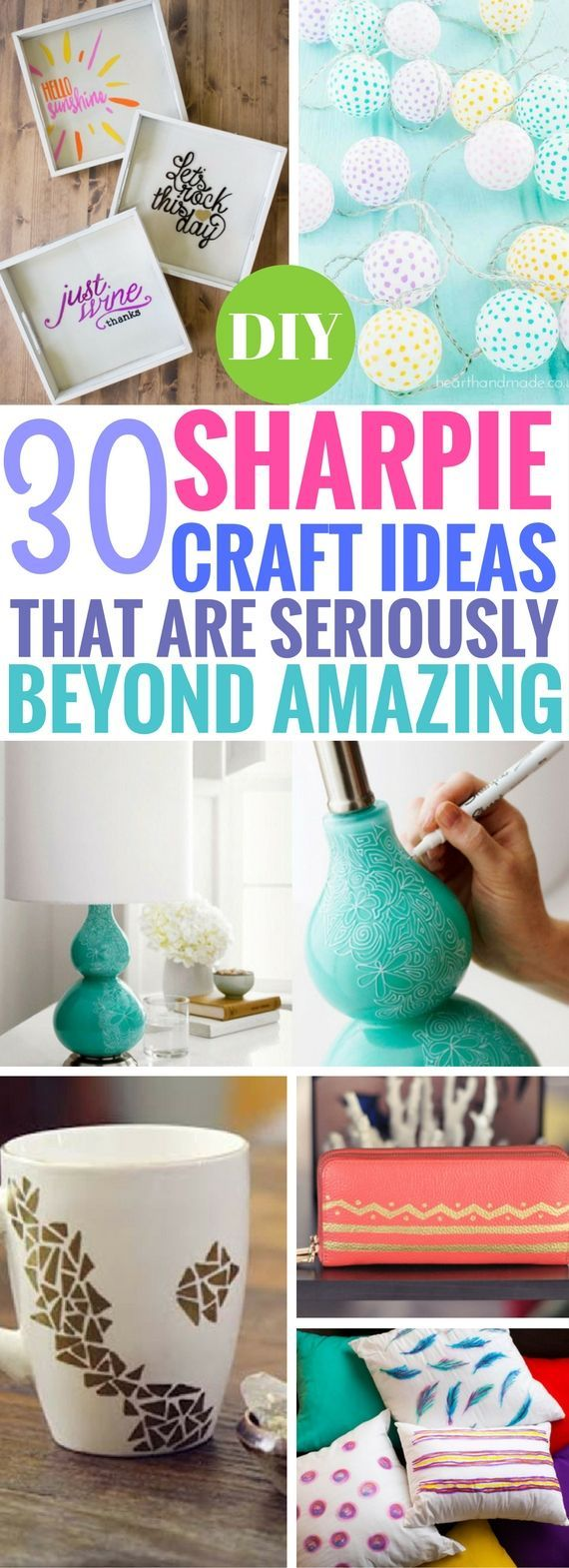WOW. These DIY Sharpie Craft Ideas are shockingly fantastic! Now I can actually make use of sharpies. From picture frames to awesome mug designs, LOVE THIS.