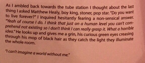 The 1975 // the end of tmrw magazines interview with Matty Healy