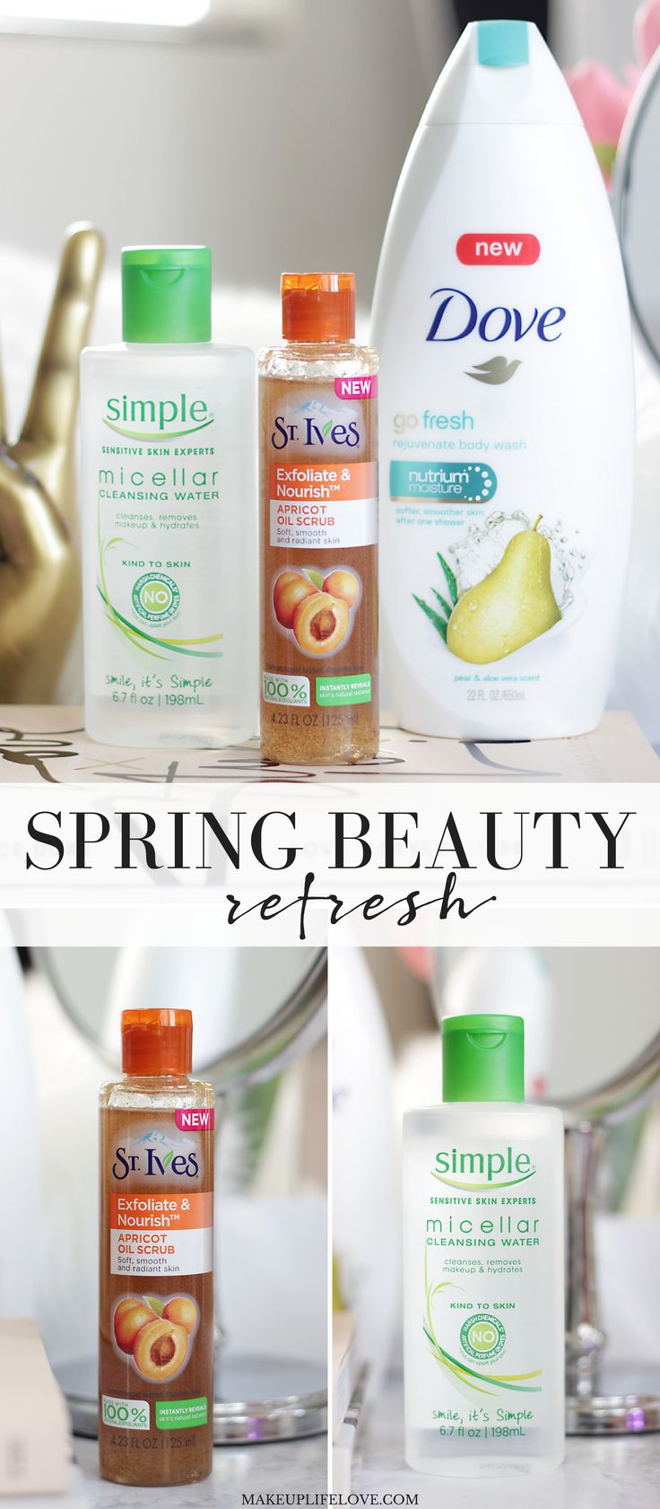 Do you have any beauty products that you love for Spring? I do! Lately I am all about hydration, exfoliation and nourishment when it comes to my beauty routine. Thankfully I have found a great way to update my beauty routine with a Spring beauty refresh.