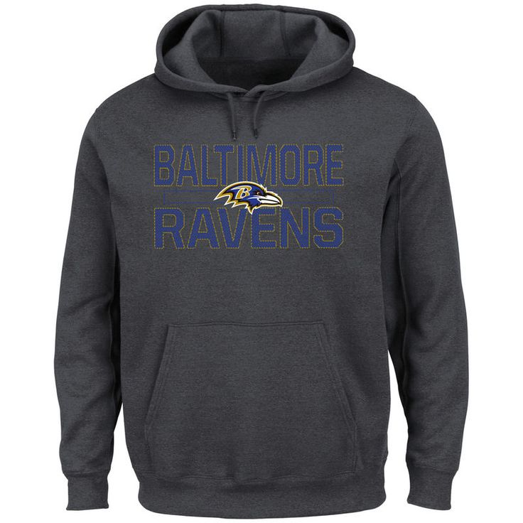 Baltimore Ravens Majestic Big & Tall Kick Return Pullover Hoodie - Charcoal
