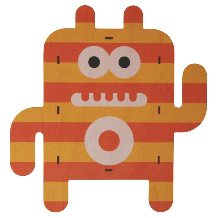 Filbert. Fun wood wall art from Paul Ocepek with a cool 3D pop out effect.