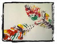 Pintas Laranja: Folhas coloridas