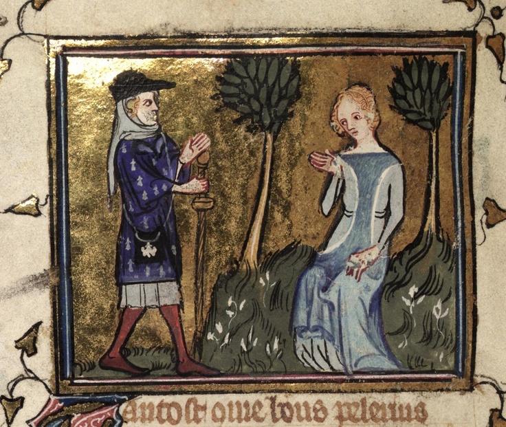 "from MS. Selden Supra 57 ""Le roman de la rose"" 1348, Paris"