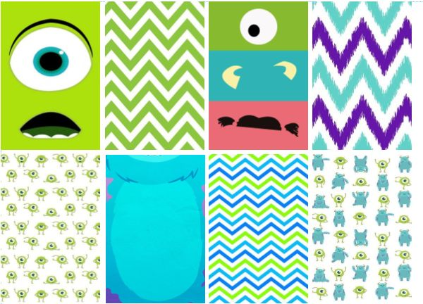 Monsters Inc and more free planner sticker printables