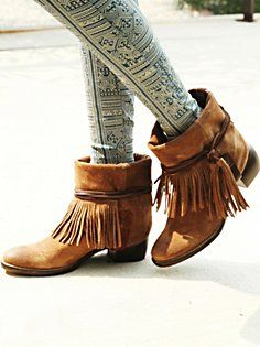 Lonesome Fringe Ankle Boot