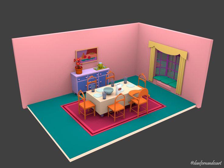 Casa dos Simpsons - Sala de Jantar