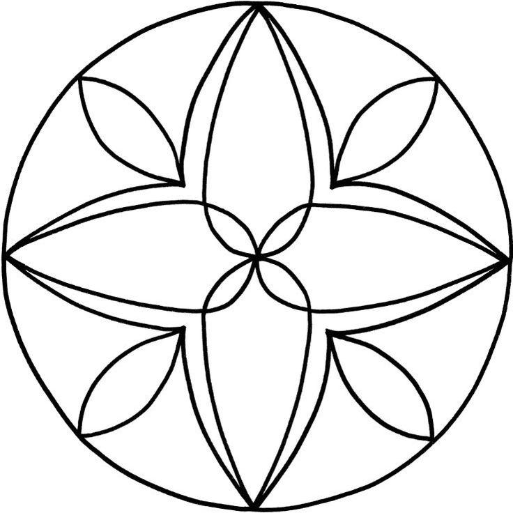 Mandalas zum Ausdrucken: Tolle Blumen-Mandala-Vorlage zum ...