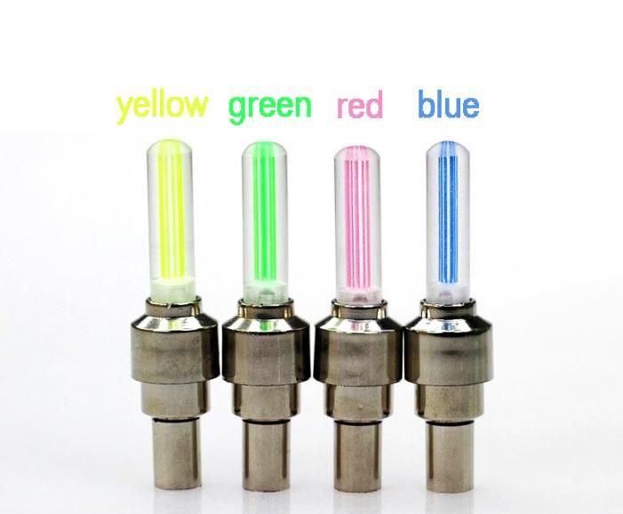 4pcs Set Bike Valve Cap Light With No Battery Mountain Road Bike