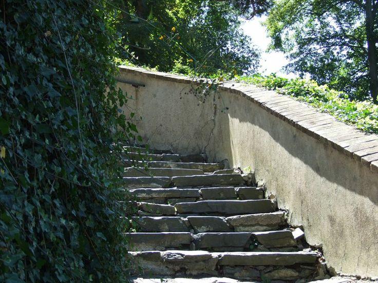 Stairway to castle Český Šternberk (central Bohemia, distr.Kutná Hora)