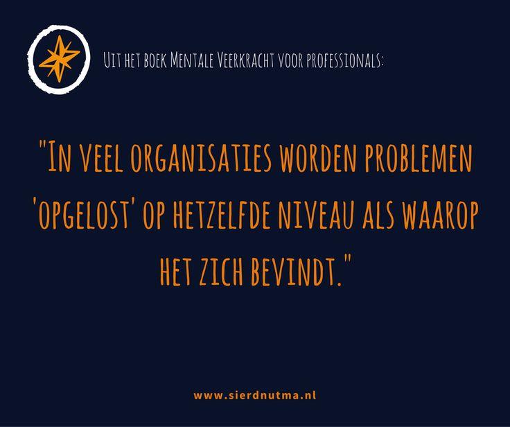 Problemen worden in organisaties vaak op het verkeerde niveau opgelost. (Uit het boek Mentale Veerkracht voor Professionals)