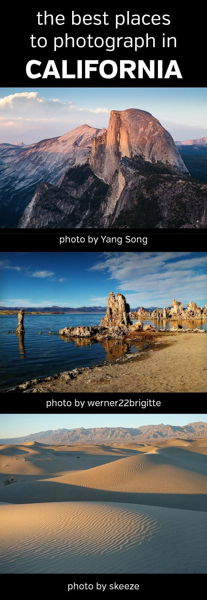 The Best Places to Photograph in California. Landscape, nature, photography, photos, Yosemite National Park, Joshua Tree, Death Valley, Pinnacles, Channel Islands, King's Canyon, Mono Lake, Eastern Sierra, Anza-Borrego Desert State Park, Mojave National Preserve, Sequoia, John Muir, Golden Gate Bridge, #california, #photography, #landscapephotography