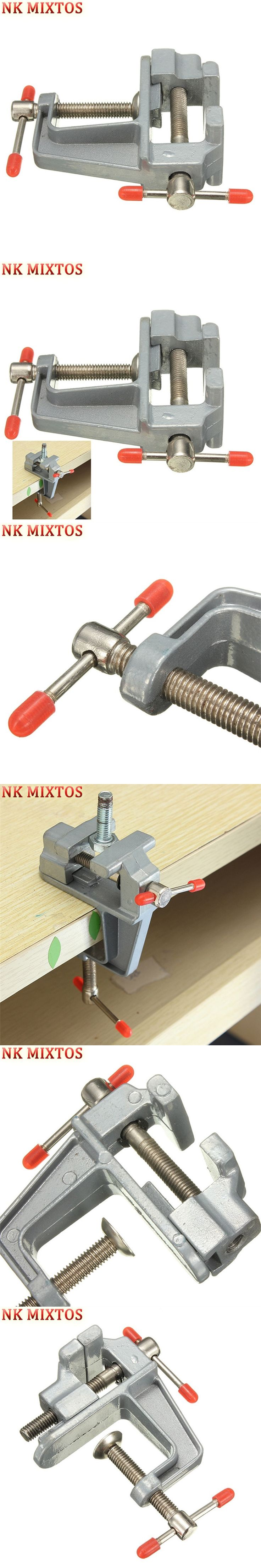 Hot Durable Aluminum Mini Jewelers Hobby Clamp On Portable Table Bench Vise Vice Tool for DIY Jewellery Craft Mould Fixed Repair