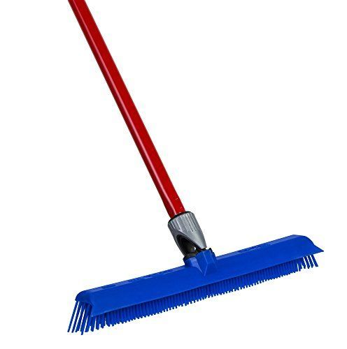 Silicone Rubber Broom By Ravmag Incredibly Tough  Durable Build Adjustable Knuckle Joint Integrated Squeegee Comfortably Long Handle Washable Scratch Free Bristles Perfect for Pet Hair -- For more information, visit image link.
