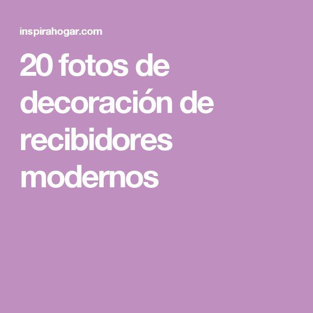 20 fotos de decoración de recibidores modernos