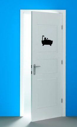 Directe download badkamer deur sticker digitale door CraftStudio27