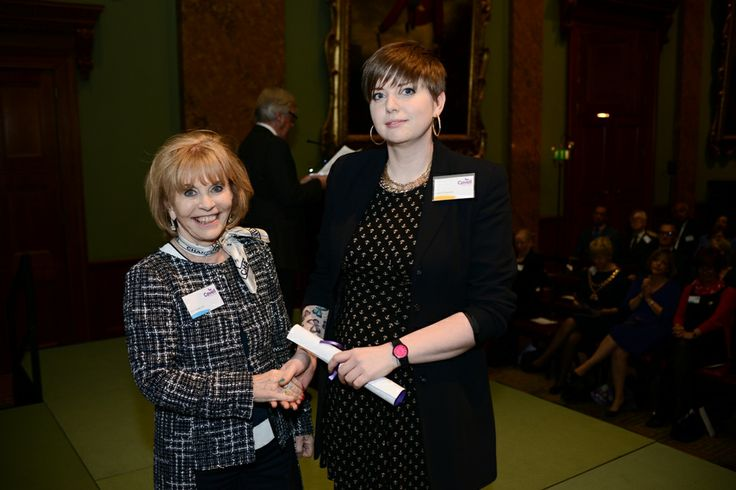 Ann Gloag OBE and Laura Fitzgeald, our runner up in the Outstanding Student Nurse Category
