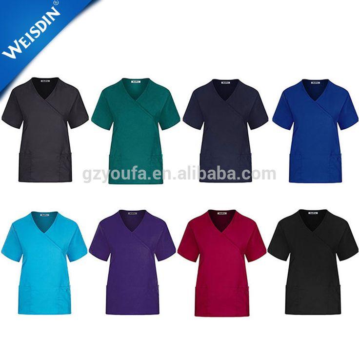 Guangzhou wholesale polyester medical scrub uniform suits nurse scrub suit design doctor scrub suit