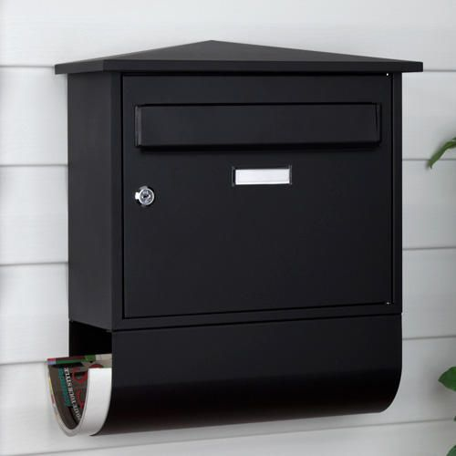 Castle Locking Wall-Mount Mailbox with Newspaper Roll -