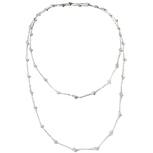 "Deb Guyot Designs Herkimer Quartz ""Endless"" Sterling Silver 54"" Necklace at HSN.com."