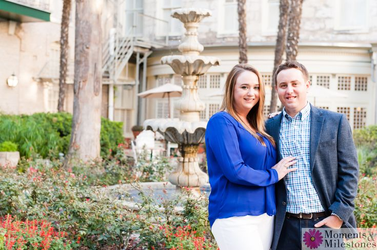 It's tough to find a cooler spot to shoot an engagement session than at than The Menger Hotel downtown San Antonio!