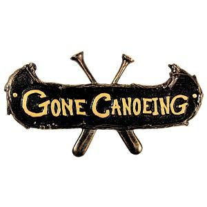Gone Canoeing Plaque