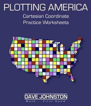 Here's a set of coordinate plane graphing exercises based on the maps of US states. Each page provides instructions for plotting a different state. Each state's coordinate instructions are available in four-quadrant graphs or first-quadrant graphs (with only positive values).
