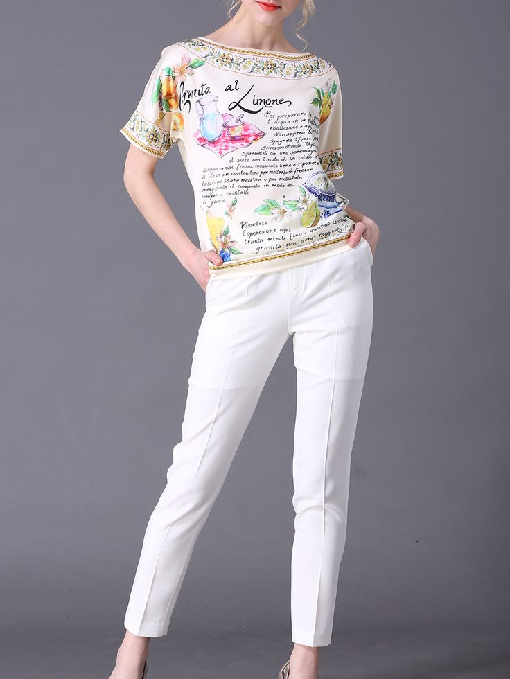Shop Multicolor Vintage Print Top With Pockets Pants online. SheIn offers Multicolor Vintage Print Top With Pockets Pants & more to fit your fashionable needs.