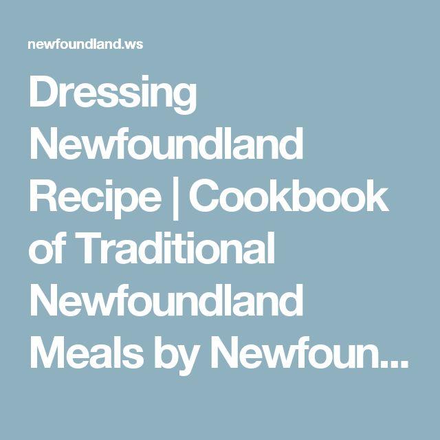 Dressing Newfoundland Recipe   Cookbook of Traditional Newfoundland Meals by Newfoundland.ws