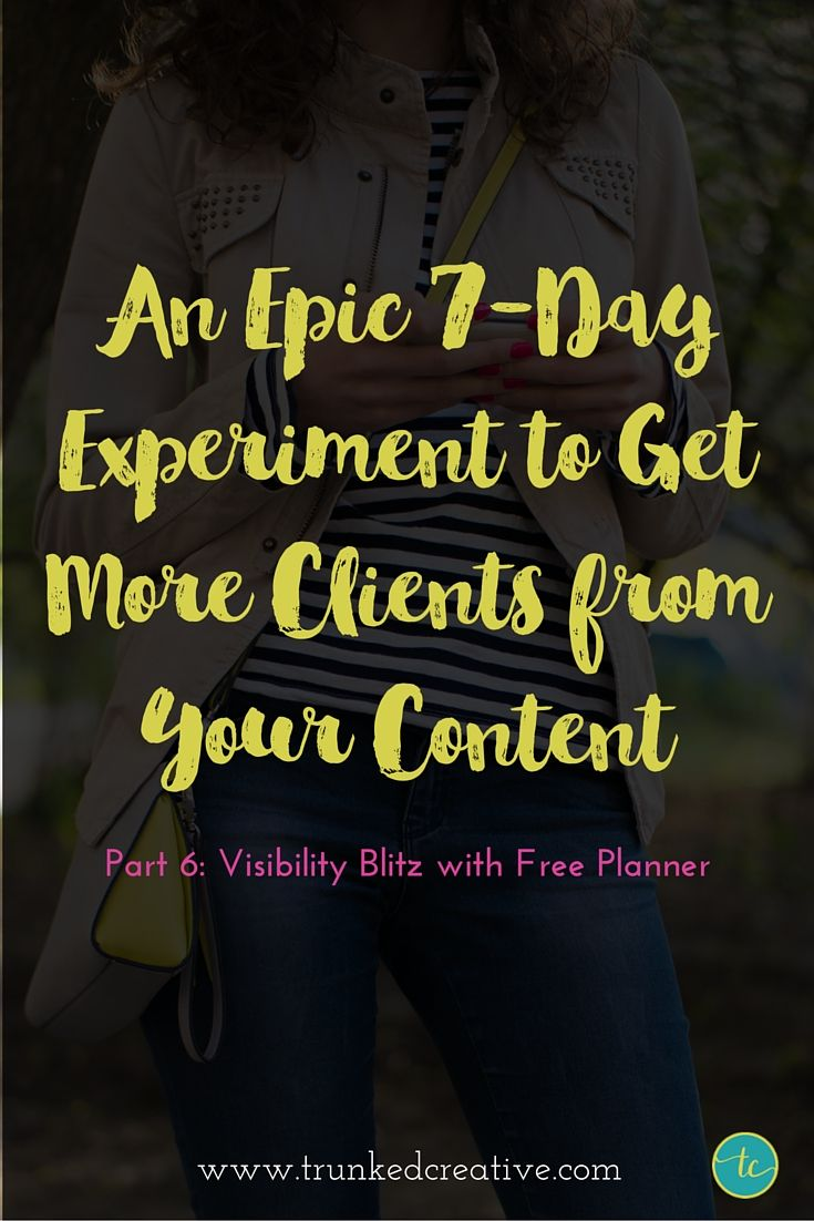 Visibility Blitz with Free Planner!