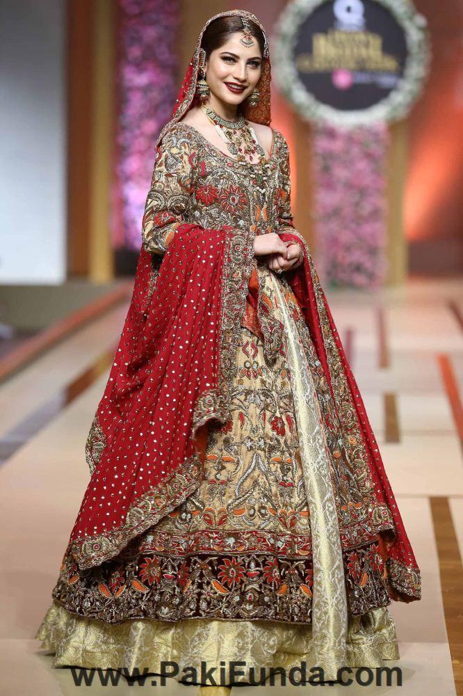 Bright Colors And Great Designs Of Pakistani Bridal Wear Lehenga With Price Pakistani Bridal Wear Pakistani Bridal Dresses