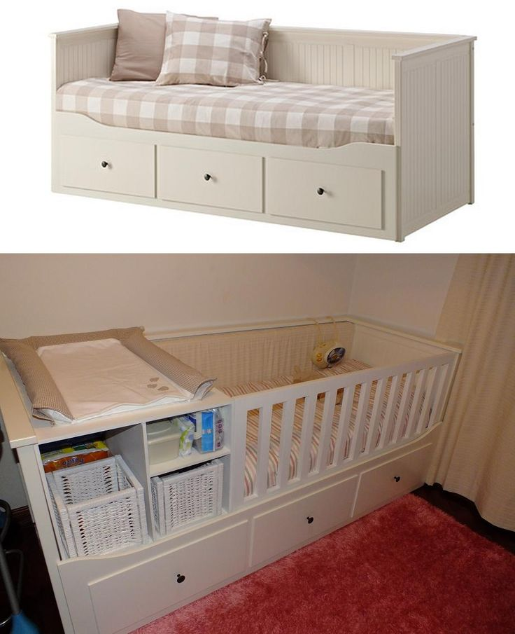 transform hemnes bed of ikea into a baby bed cod hemnes pinterest baby. Black Bedroom Furniture Sets. Home Design Ideas